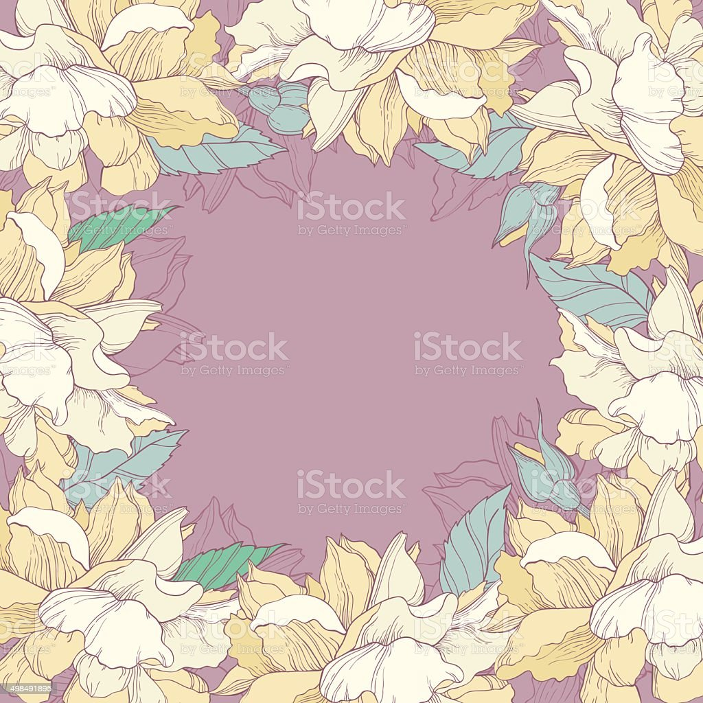 beautiful floral background with yellow roses stock vector art