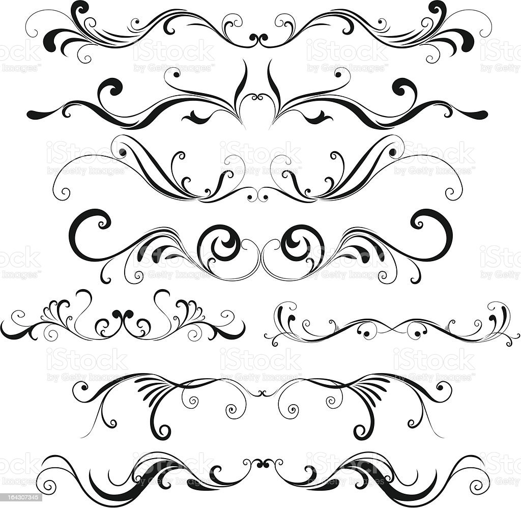 Beautiful floral design elements  royalty-free stock vector art