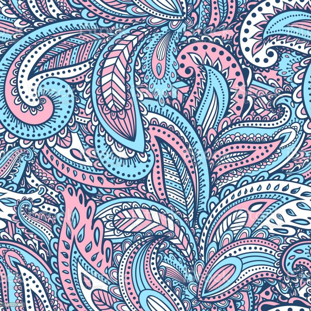 Beautiful floral seamless vector art illustration