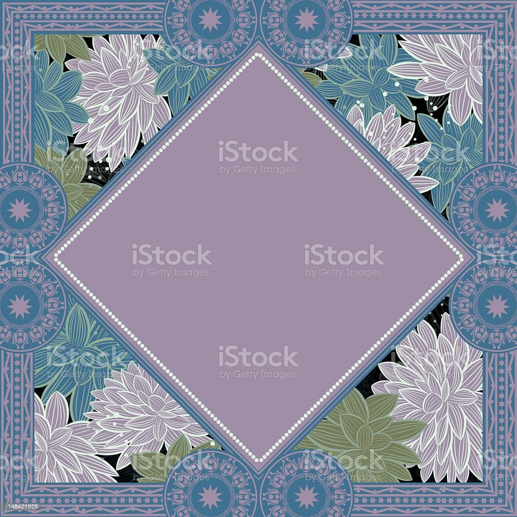 Beautiful Flower Border Background royalty-free stock vector art