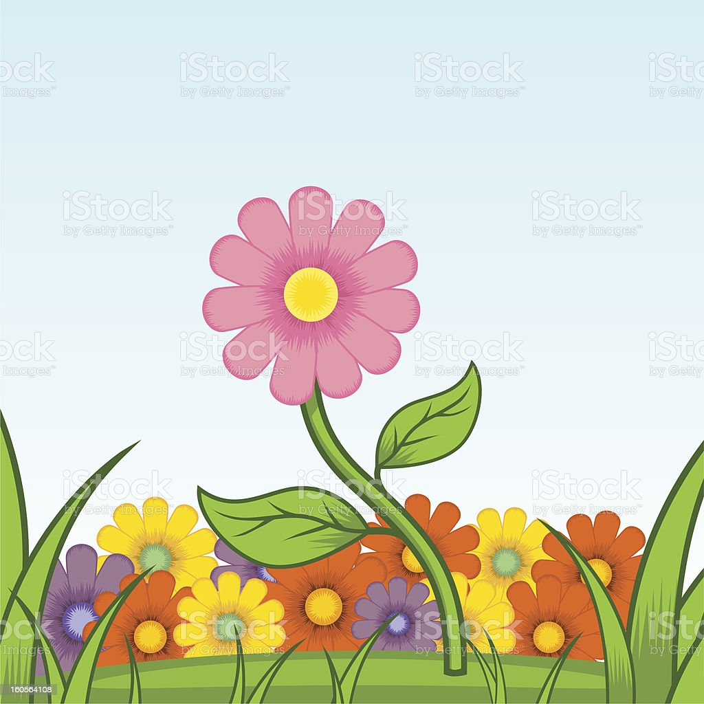 Beautiful flower royalty-free stock vector art