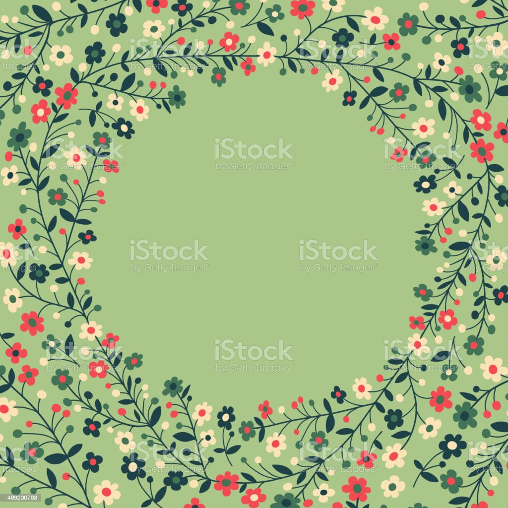Beautiful frame of flowering branches royalty-free stock vector art