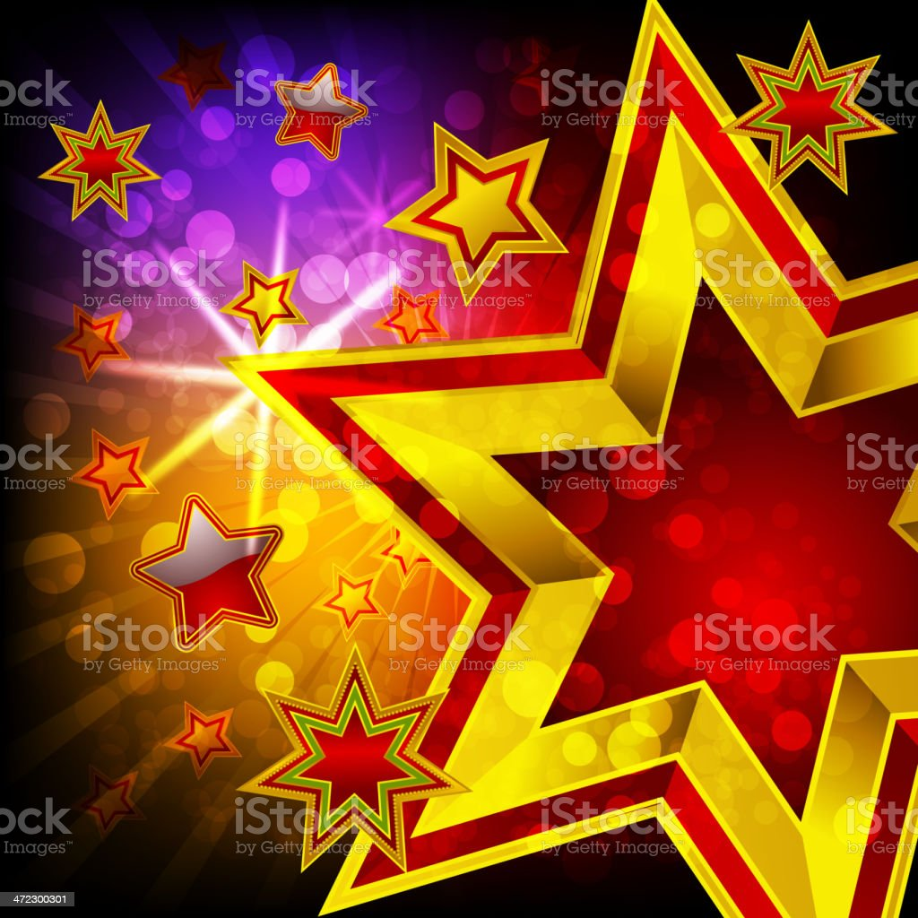 Beautiful Golden Star royalty-free stock vector art