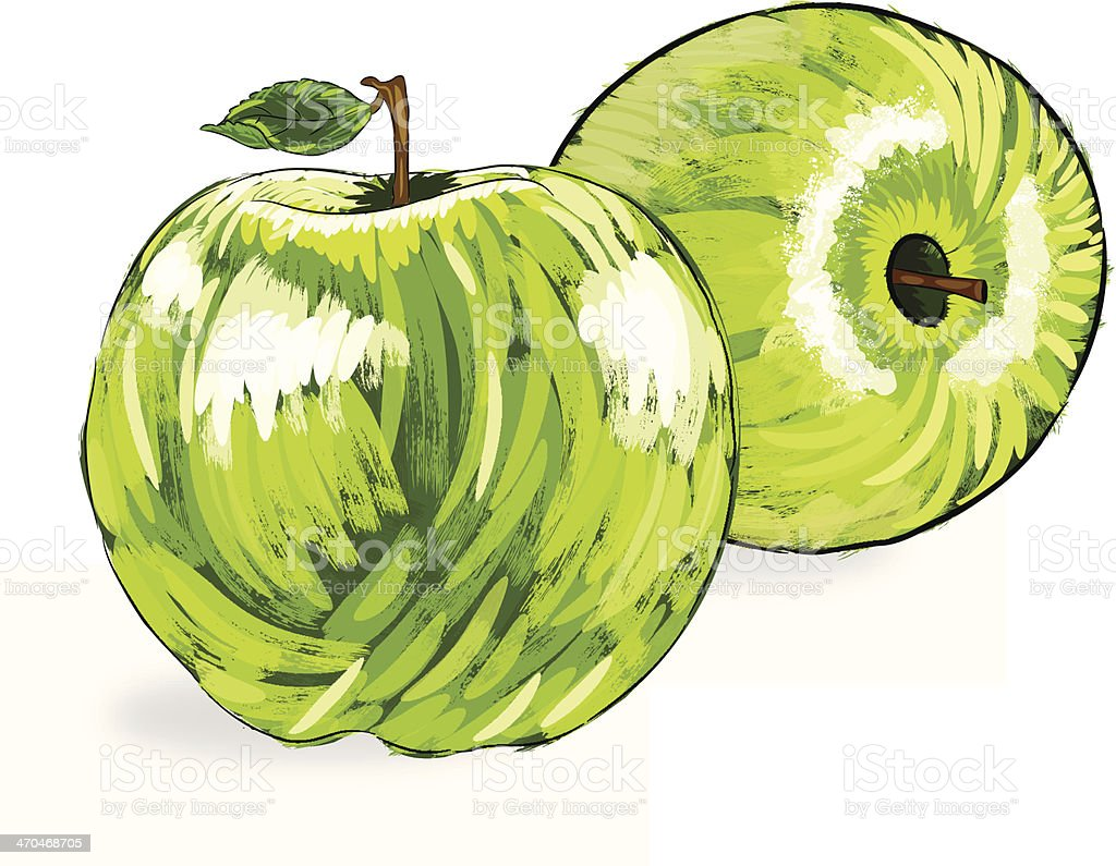 Beautiful Green Apple royalty-free stock vector art