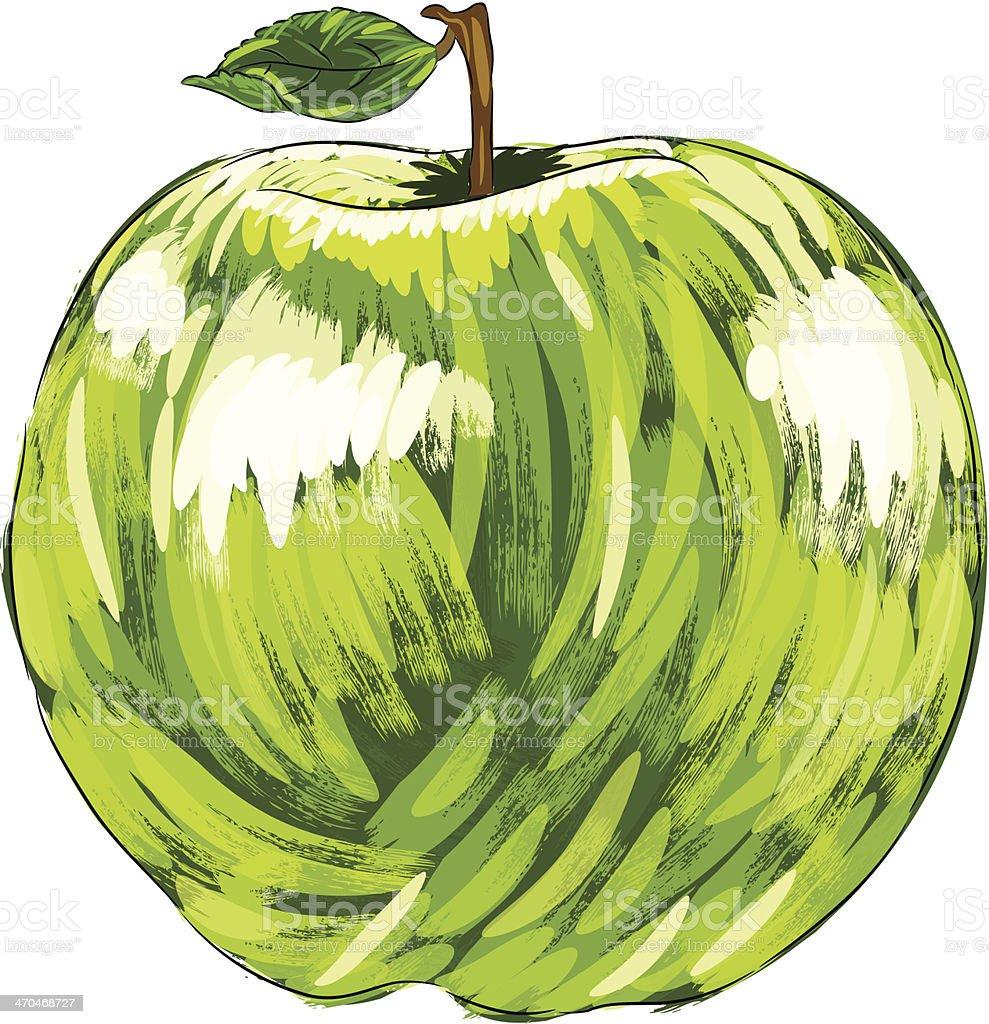 Beautiful Green Apple royalty-free stock vector art