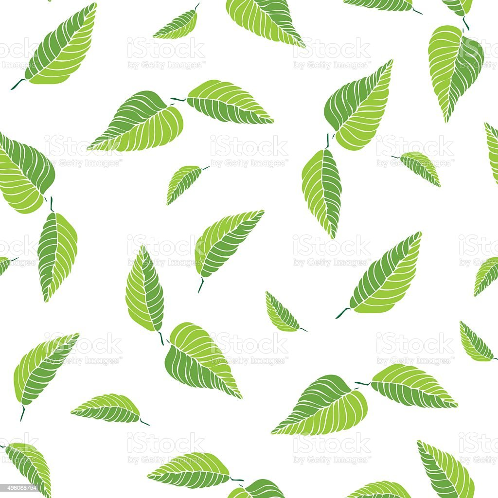 Beautiful Green tea seamless pattern vector art illustration