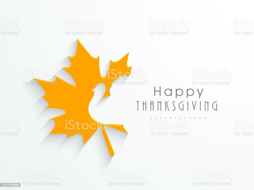 Beautiful greeting card design for Happy Thanksgiving day. vector art illustration