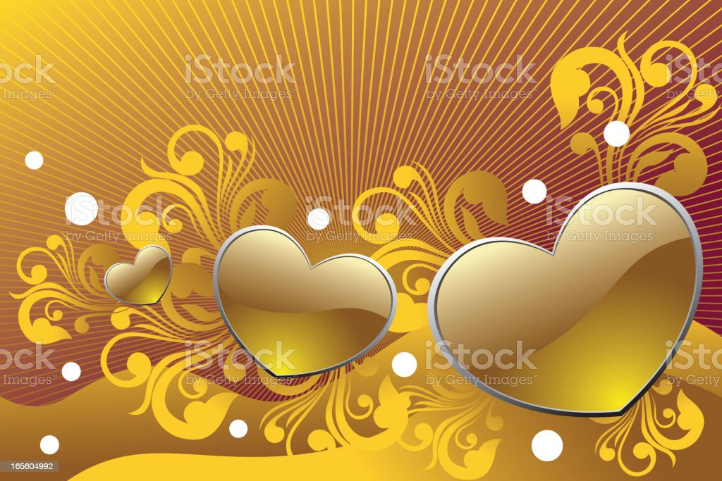 Beautiful Heart background vector art illustration