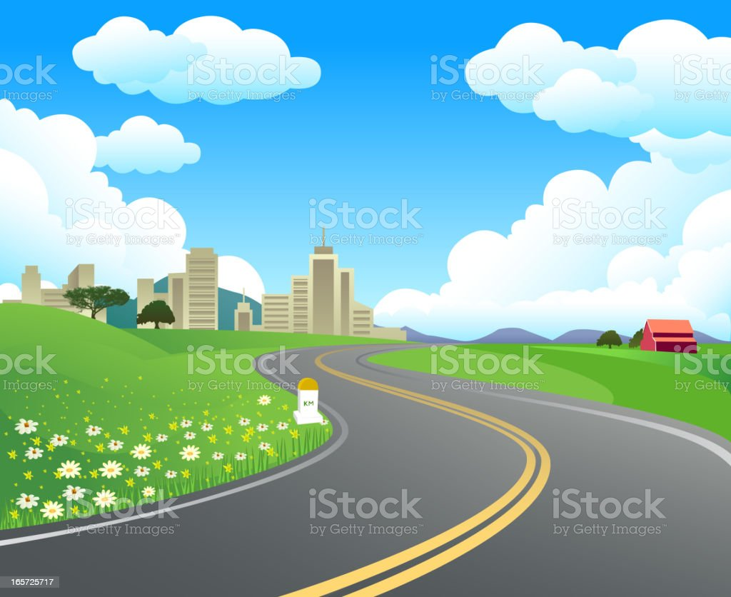 Beautiful Highway royalty-free stock vector art