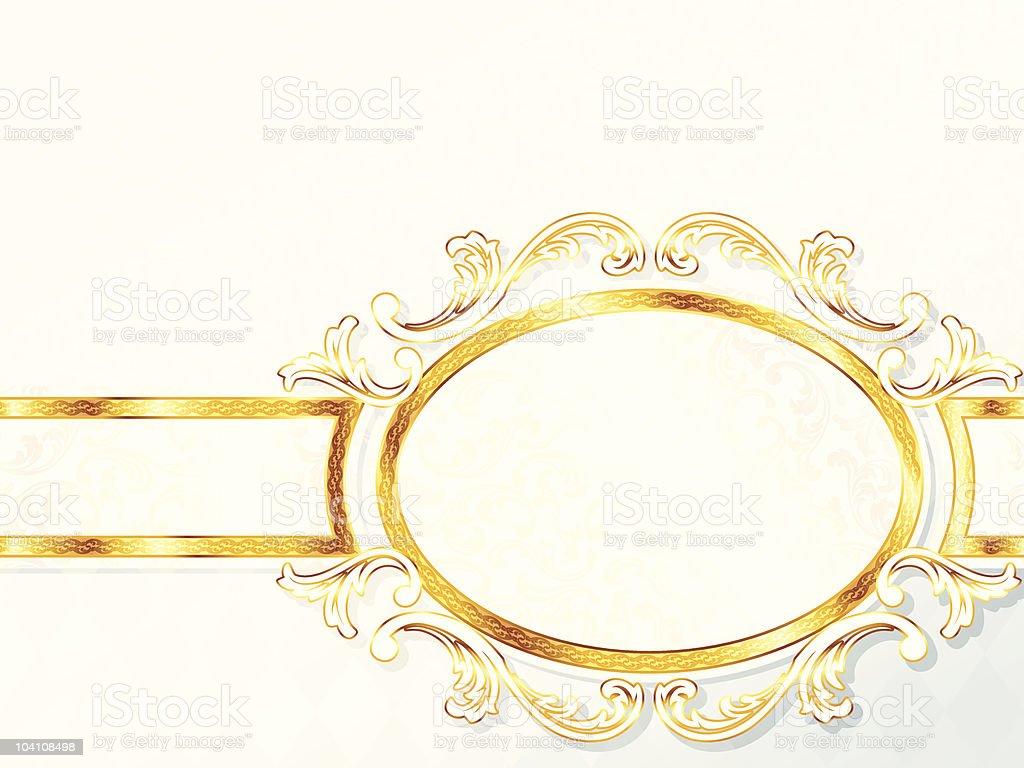 Beautiful horizontal rococo wedding banner royalty-free stock vector art