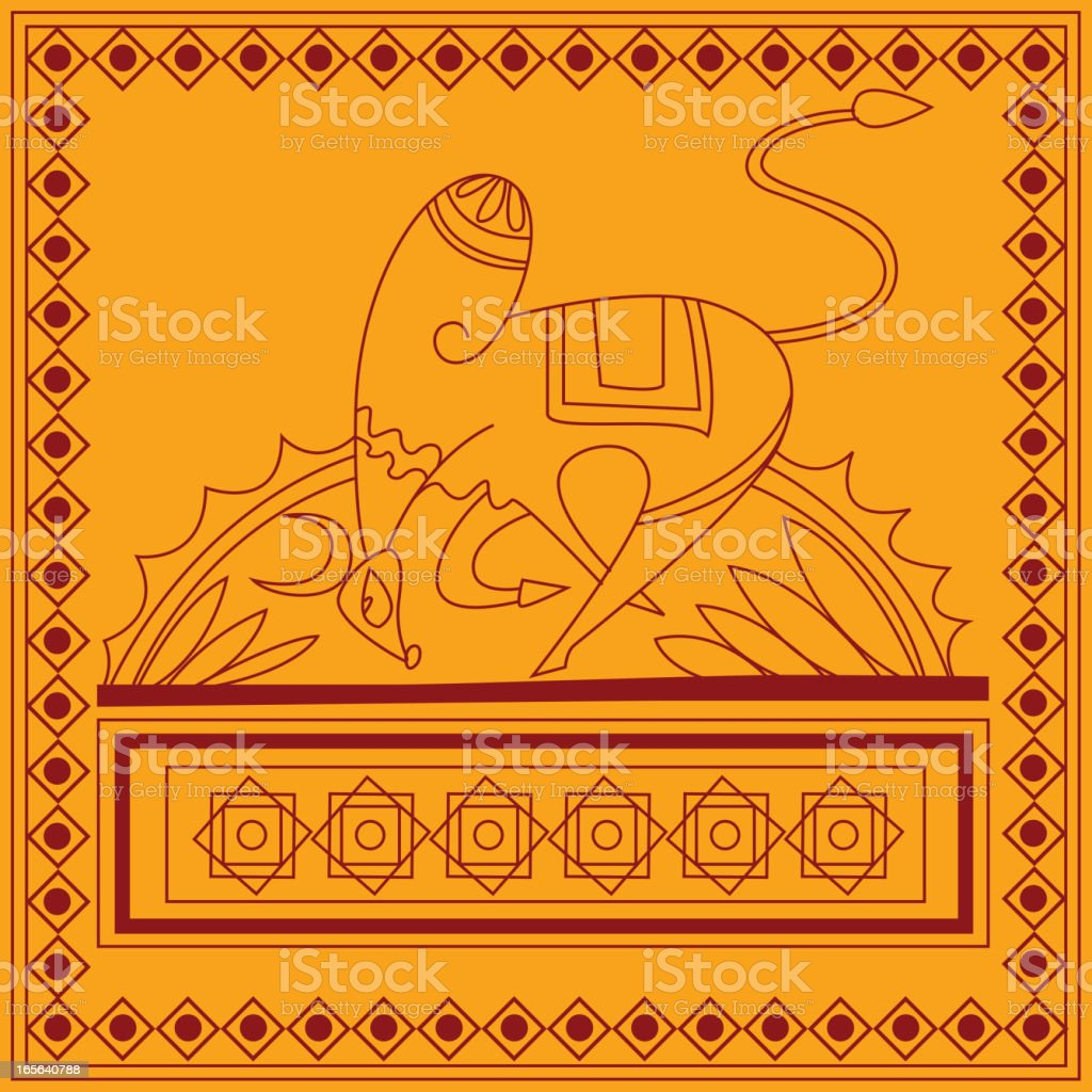 Beautiful Indian Folk Art vector art illustration