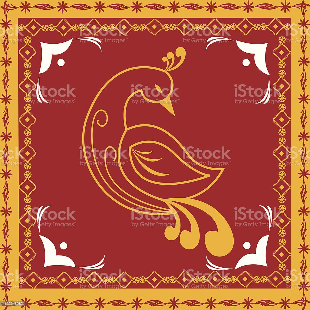 Beautiful Indian Folk art royalty-free stock vector art