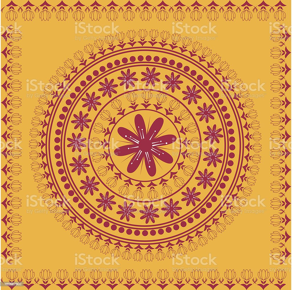 Beautiful Indian Lotus Mandala Design royalty-free stock vector art