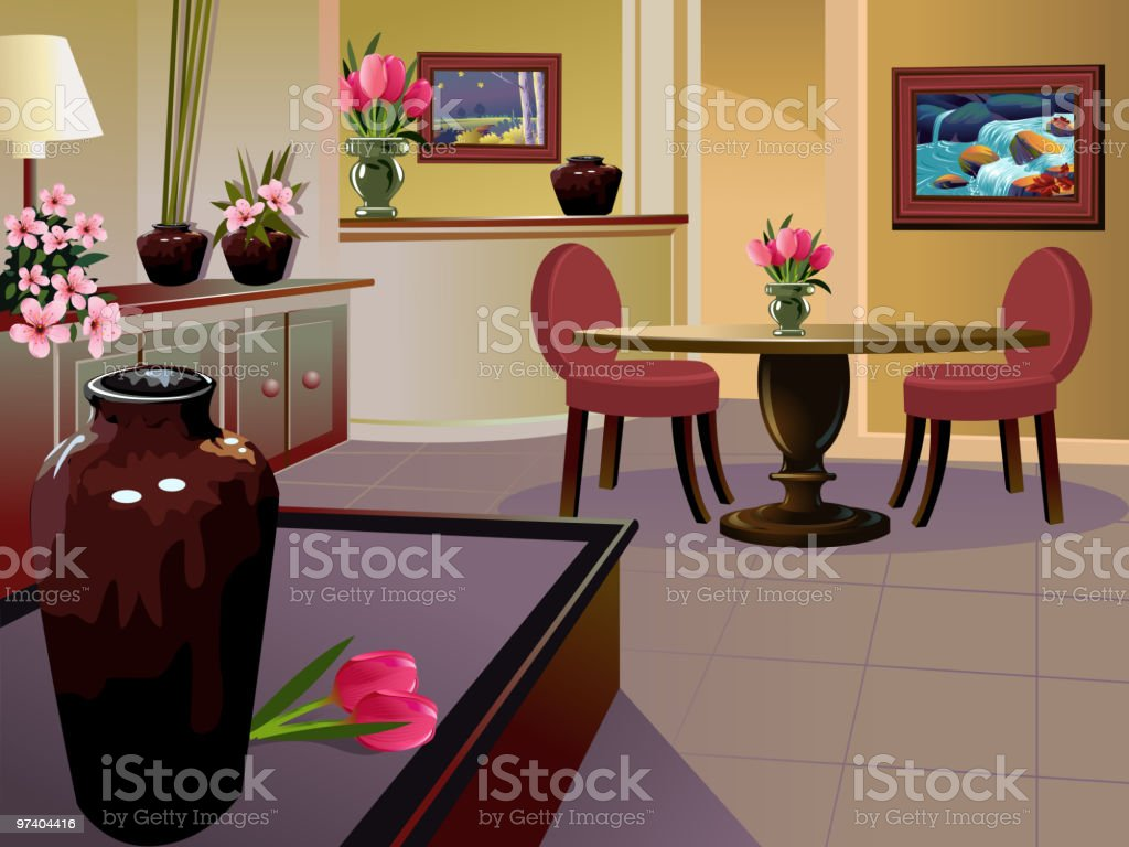 Beautiful Interior background/Drawing room royalty-free stock vector art