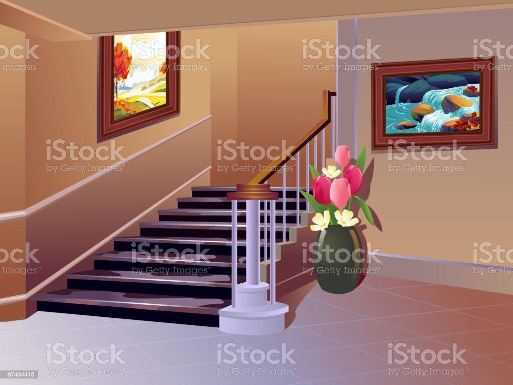 Beautiful Interior vector art illustration