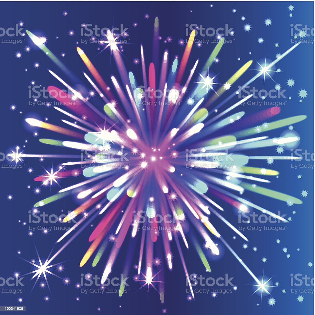 Beautiful isolated vector firework. Salute. royalty-free stock vector art