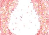 Beautiful Japanese cherry tree
