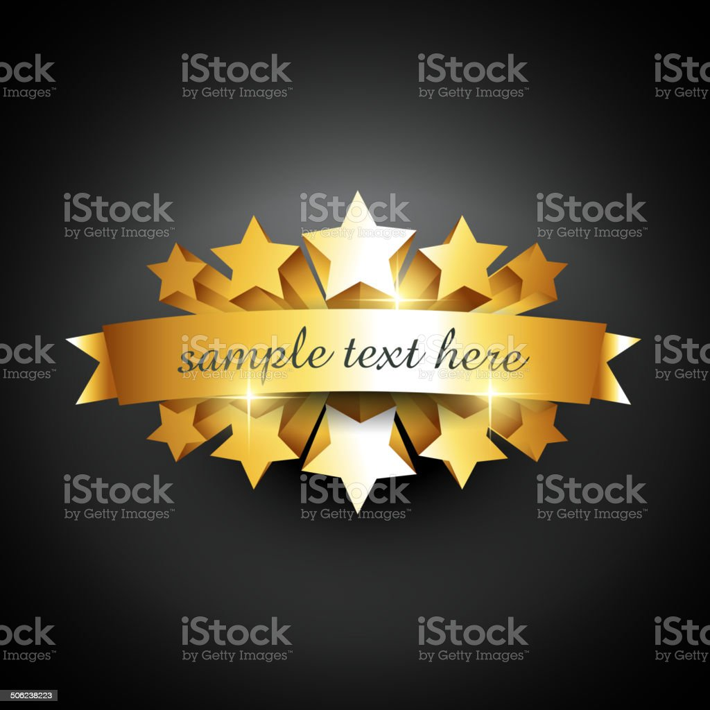 beautiful label sign vector art illustration