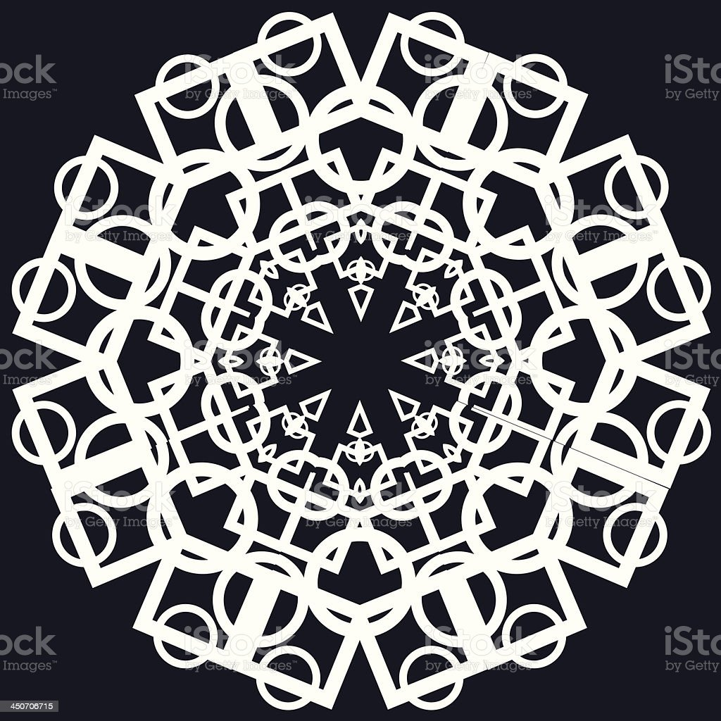 Beautiful lace pattern. The circular background. royalty-free stock vector art