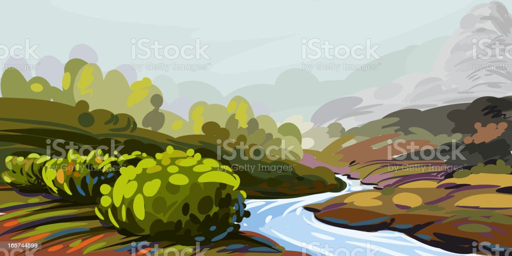 Beautiful Landscape royalty-free stock vector art