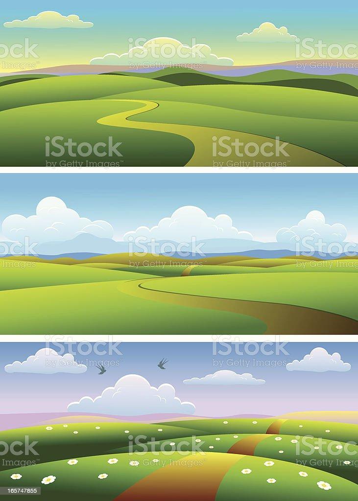 Beautiful  Landscape royalty-free stock vector art