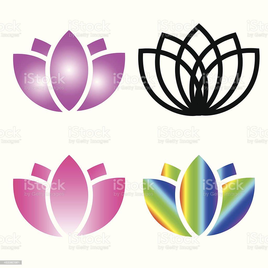 Beautiful lotus. vector art illustration