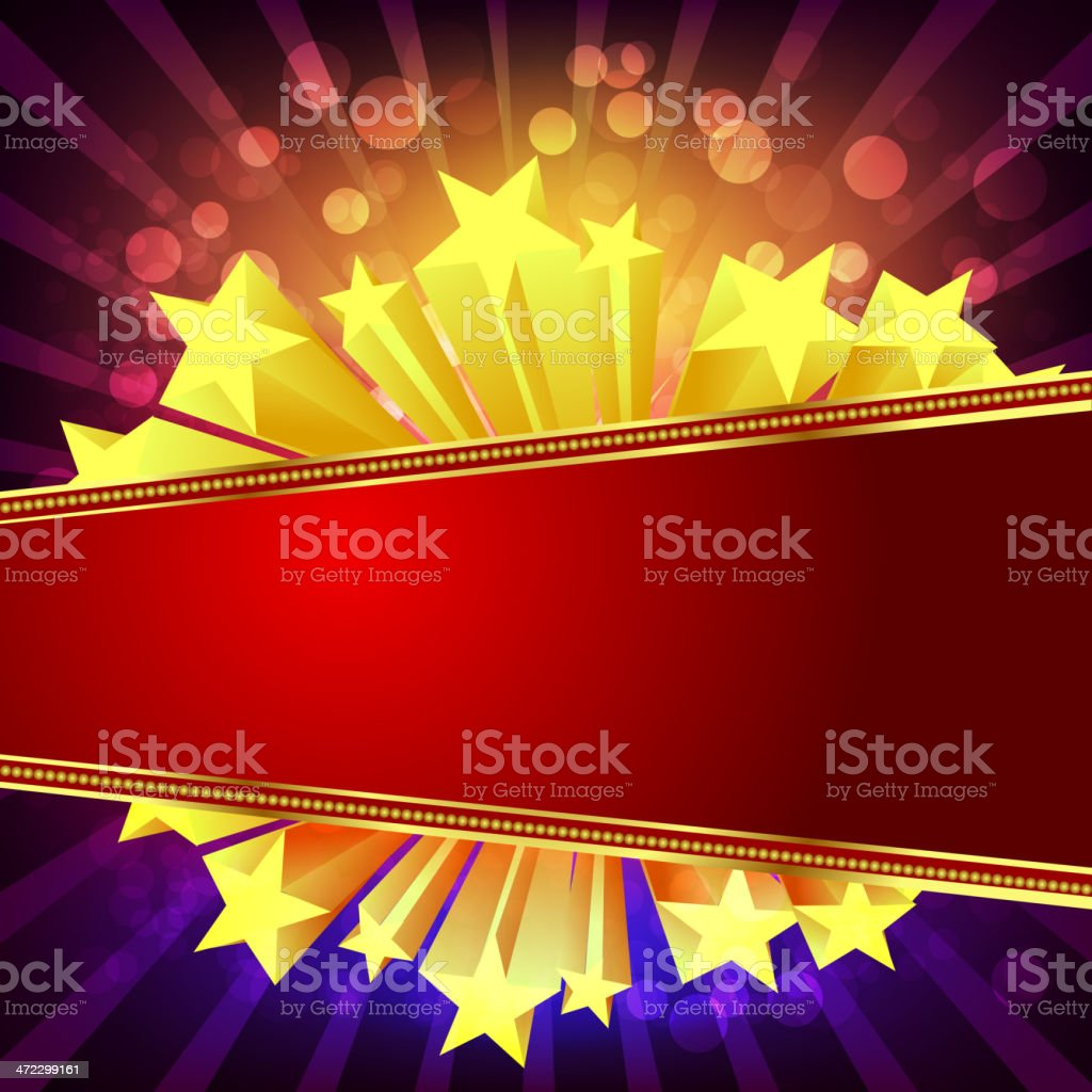 Beautiful Marquee Display royalty-free stock vector art