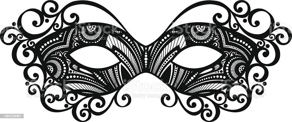 Beautiful Masquerade Mask stock vector art 484225087 | iStock  Masquerade Mask Vector
