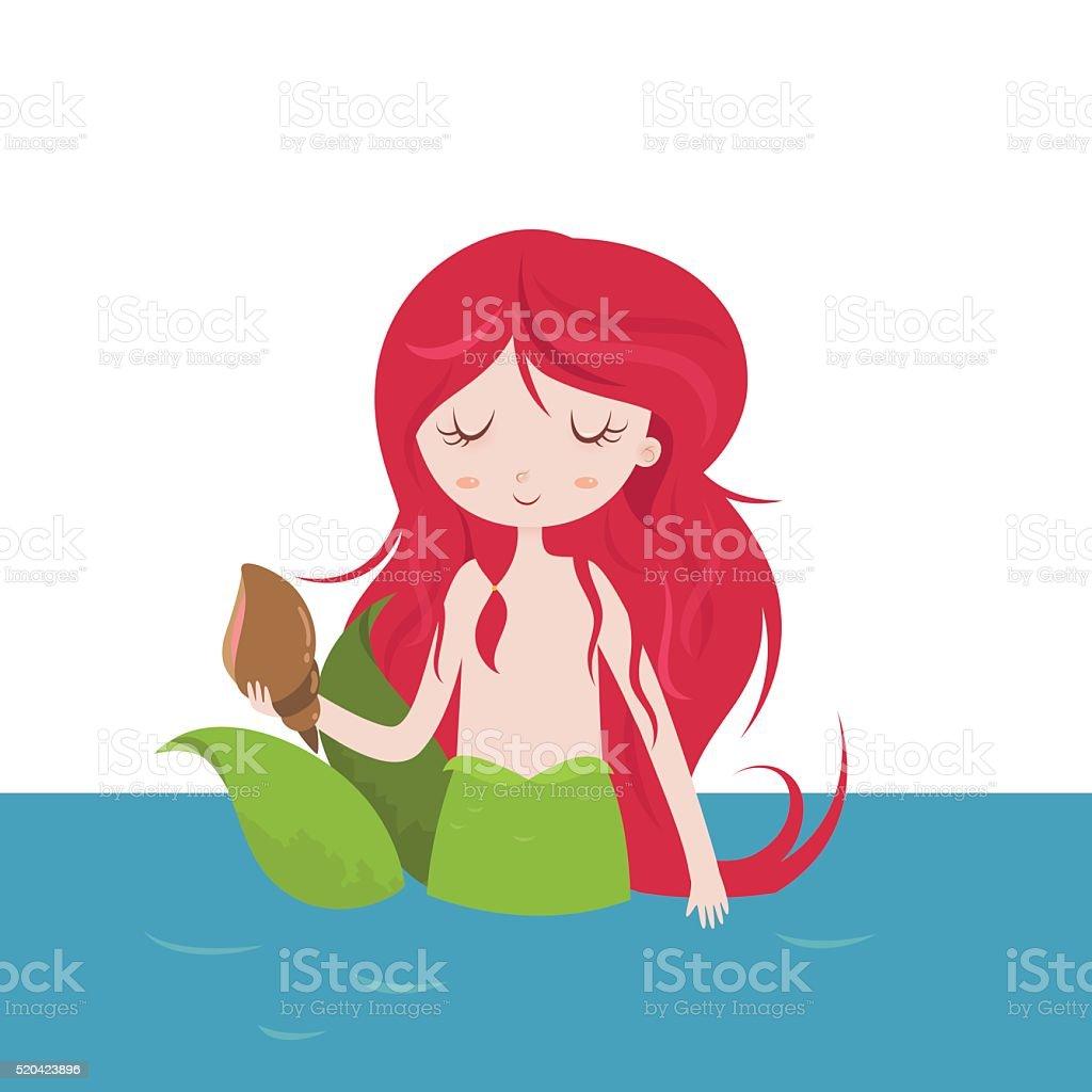 beautiful mermaid cartoon stock vector art 520423896 istock