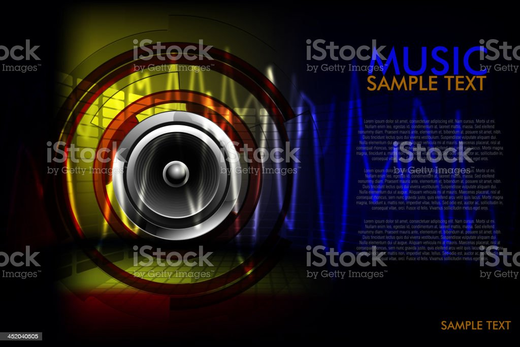 Beautiful Music Background vector art illustration