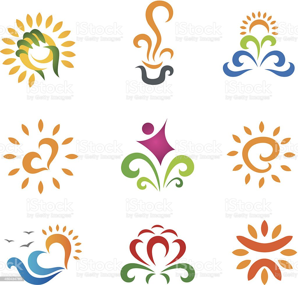 Beautiful nature modern retro symbols for business vector art illustration