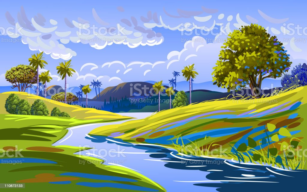 Beautiful Nature royalty-free stock vector art