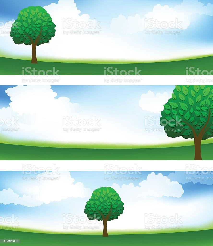 Beautiful Nature vector art illustration