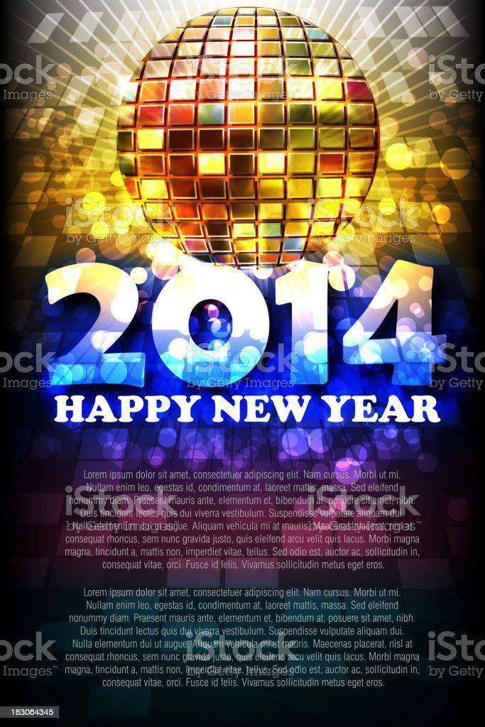 Schönes Neues Jahr 2014 Feier Hintergrund Vektor Illustration ...