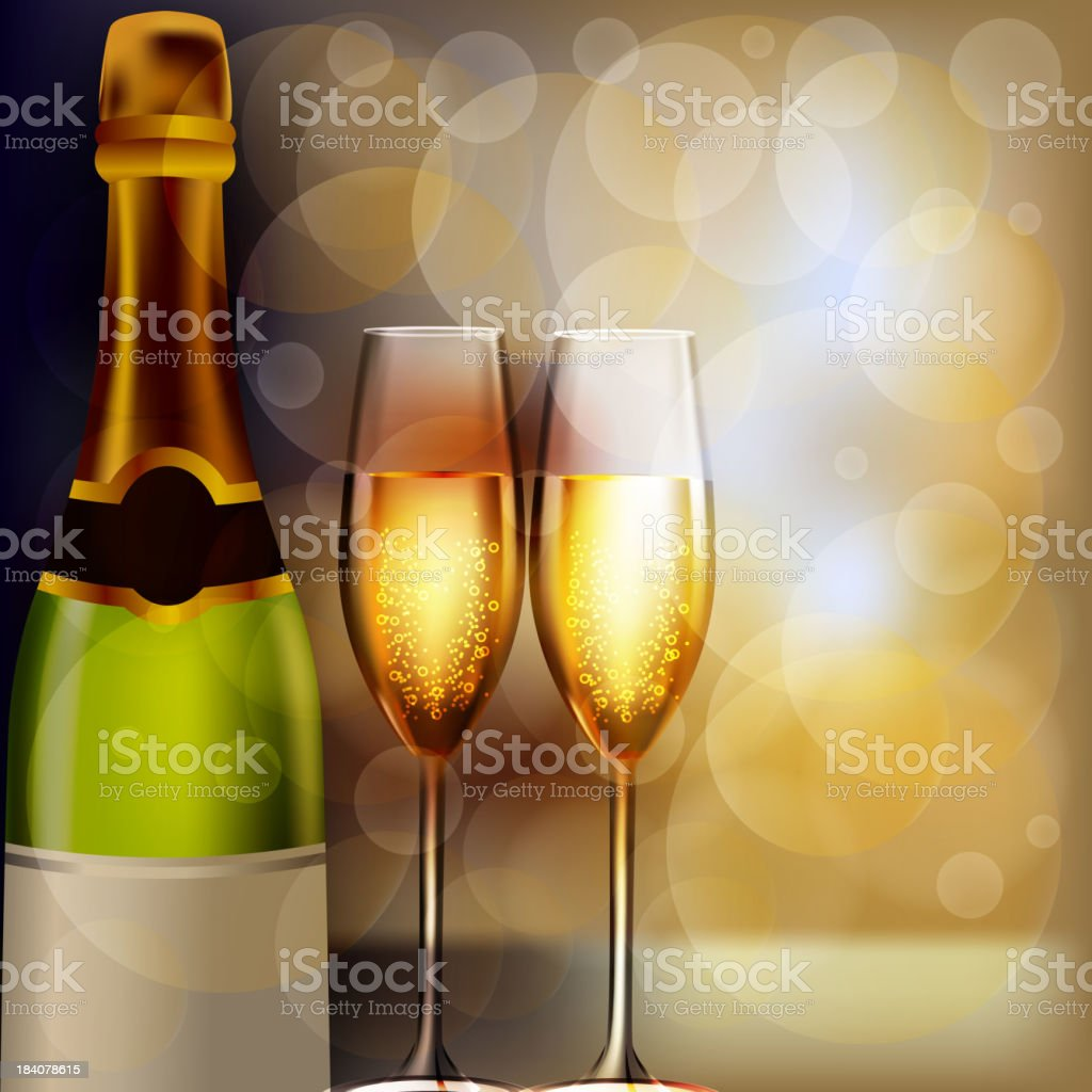 Beautiful New Year Celebration Background royalty-free stock vector art