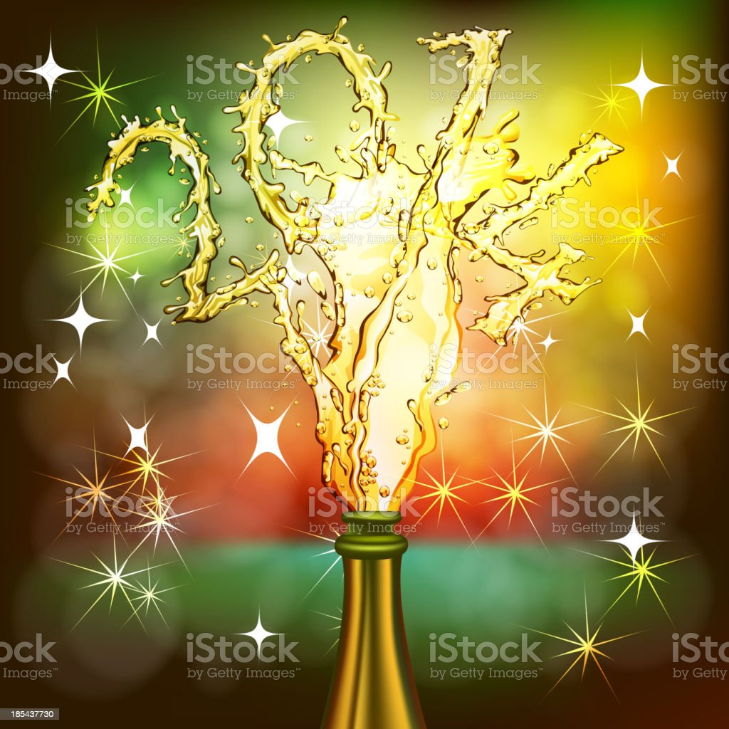 2014, Beautiful New Year Celebration Background royalty-free stock vector art