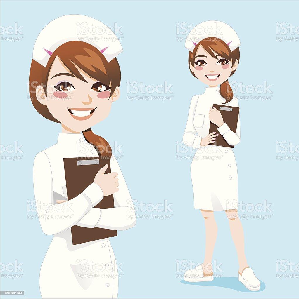 Beautiful Nurse royalty-free stock vector art