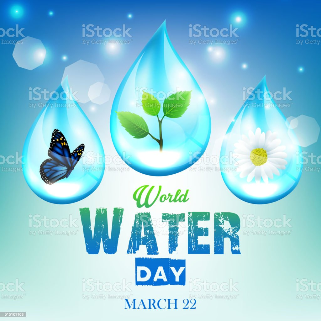 Beautiful ornament background for World Water Day vector art illustration