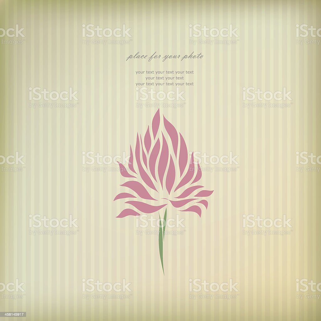 Beautiful ornament for greeting card vector royalty-free stock vector art