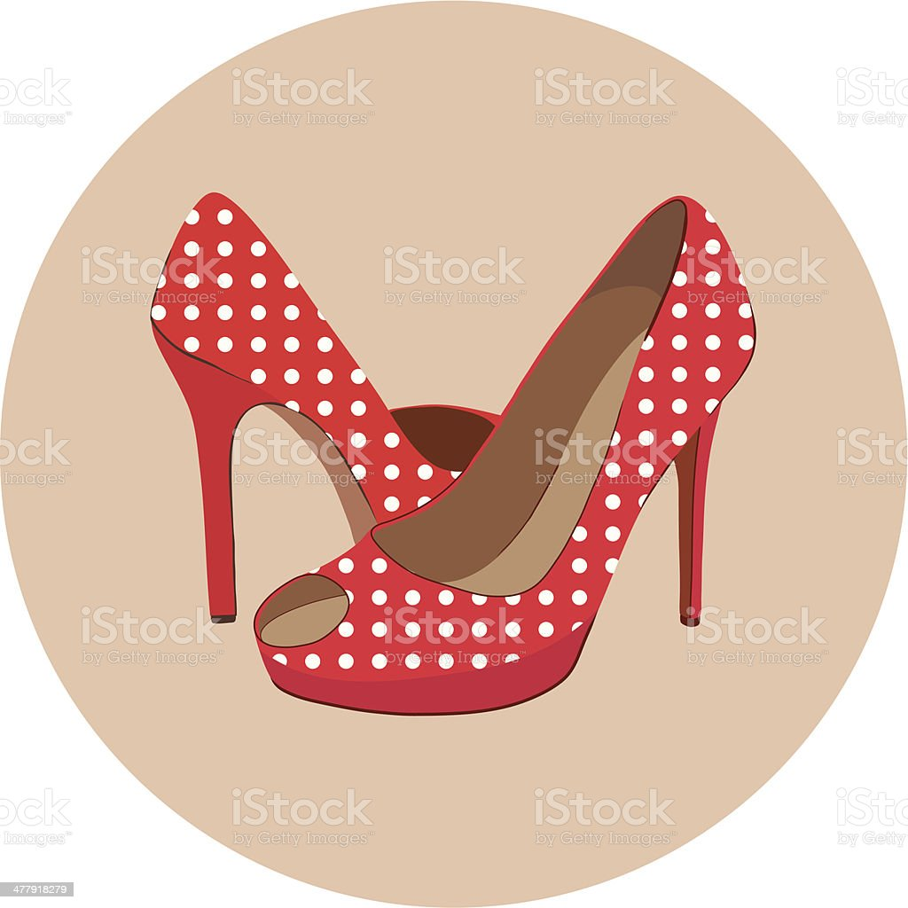 beautiful shoes royalty-free stock vector art