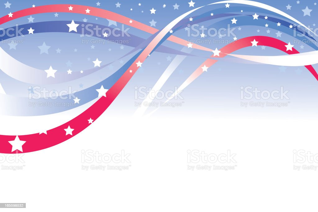 Beautiful Patriotic Background royalty-free stock vector art