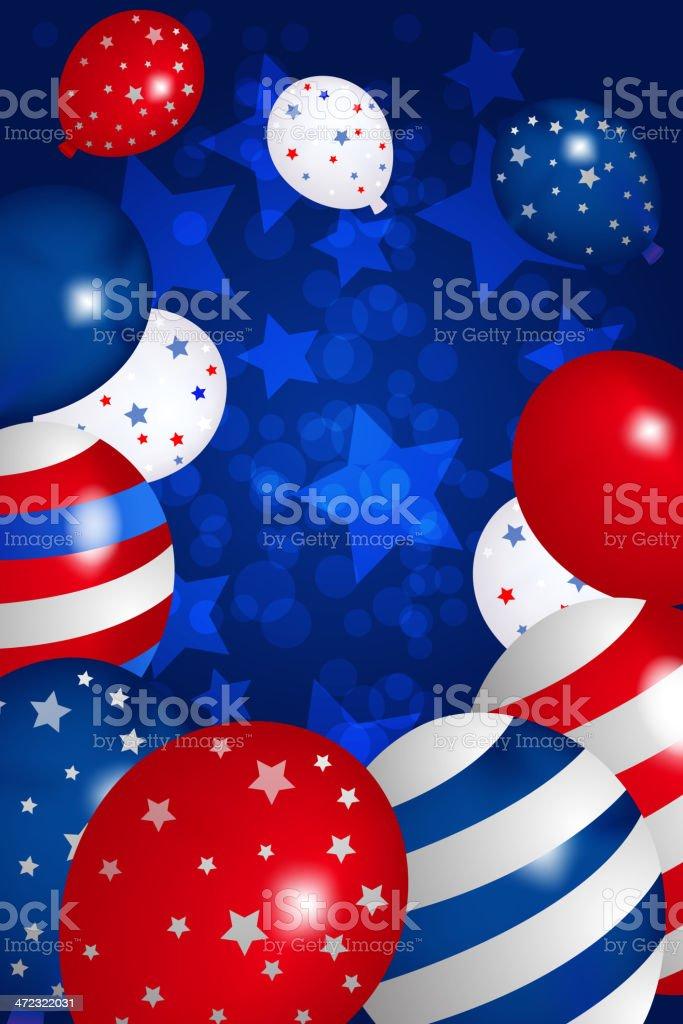 Beautiful Patriotic Background royalty-free stock vector art
