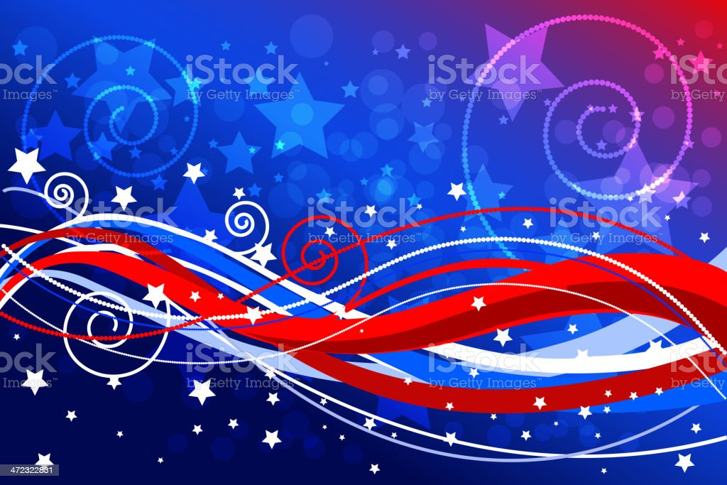 Beautiful Patriotic Background vector art illustration