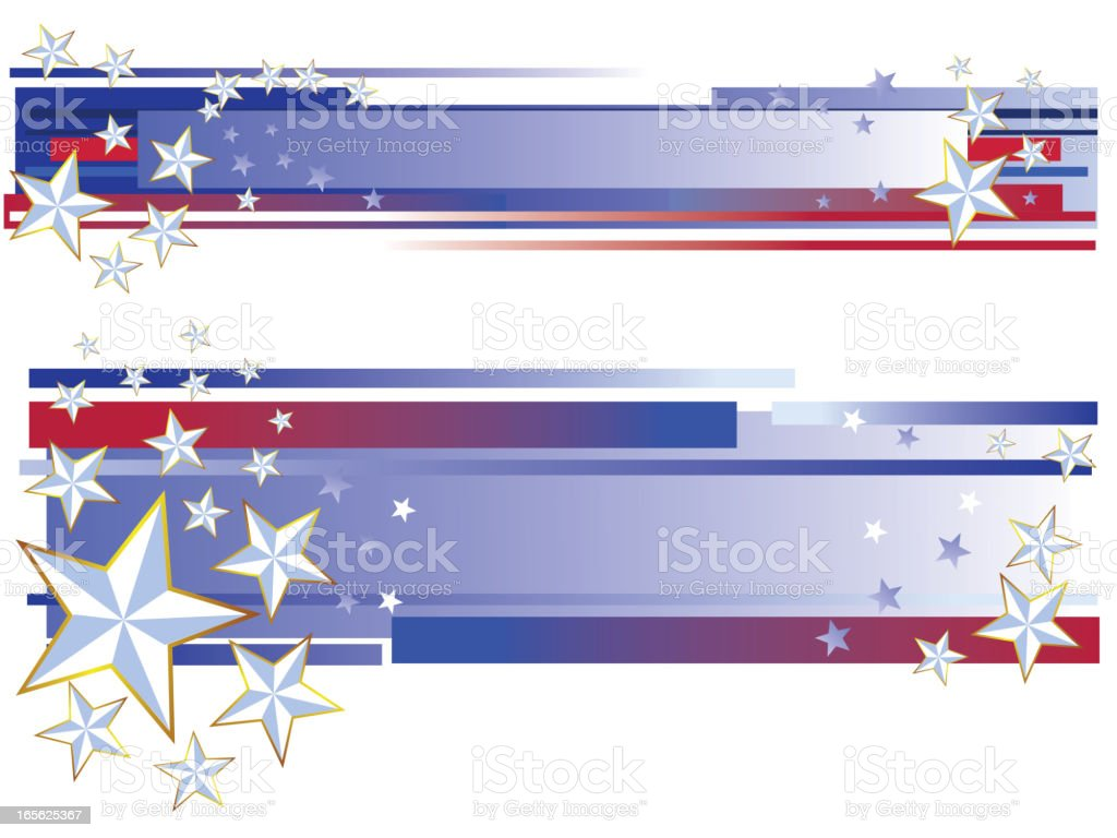 Beautiful Patriotic Background/Banners royalty-free stock vector art