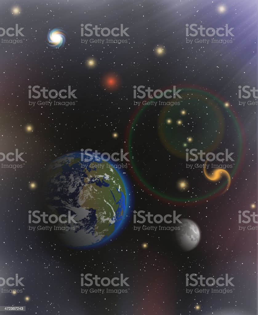 beautiful Planet Earth royalty-free stock vector art