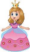 Beautiful princess in pink dress
