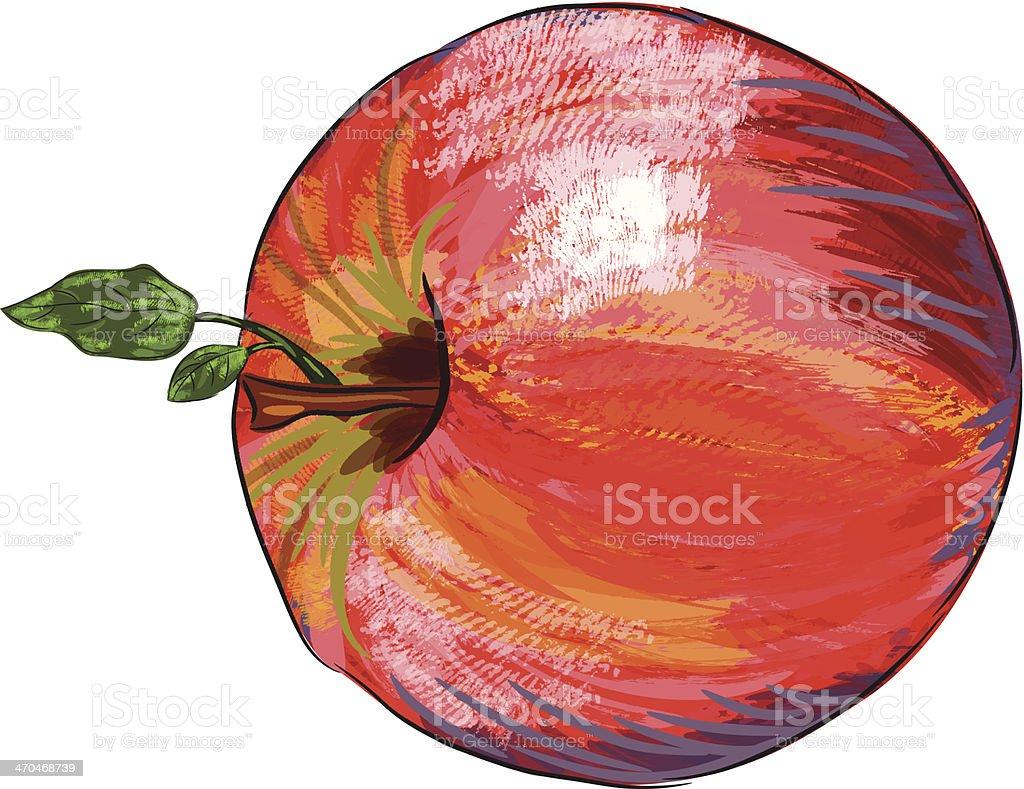 Beautiful Red Apple royalty-free stock vector art