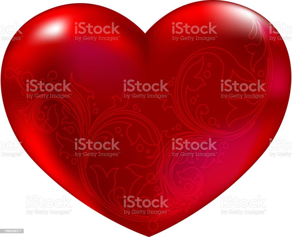 Beautiful Red Heart royalty-free stock vector art