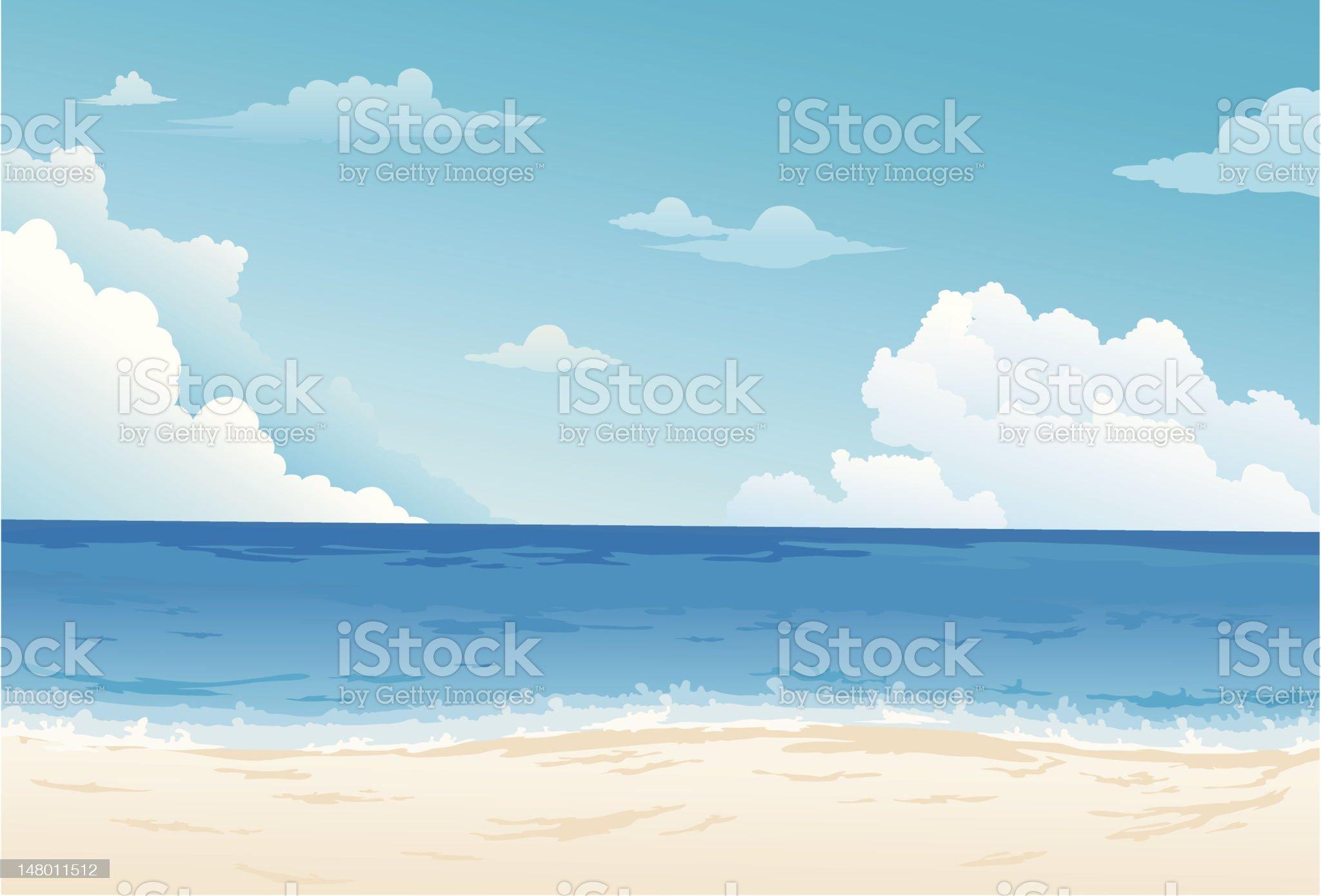 Beautiful Sea Landscape Background royalty-free stock vector art