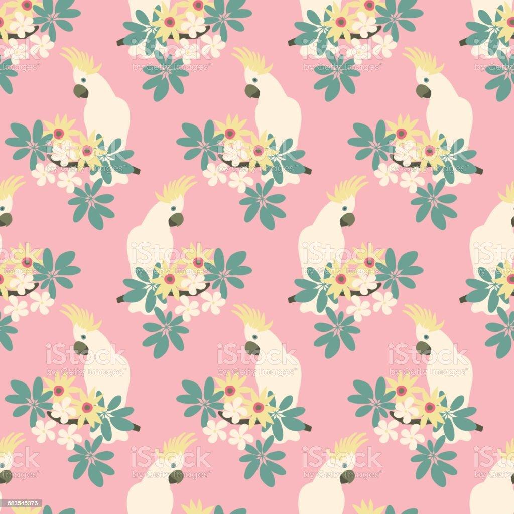 Beautiful seamless pattern vector art illustration